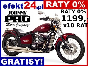 motocykl chopper custom by Johnny Pag Malibu 320i bordowy Raty 0% Kaski